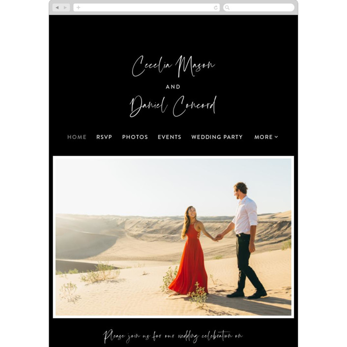 """In this together"" - Wedding Websites in Black Tie by Lea Delaveris."