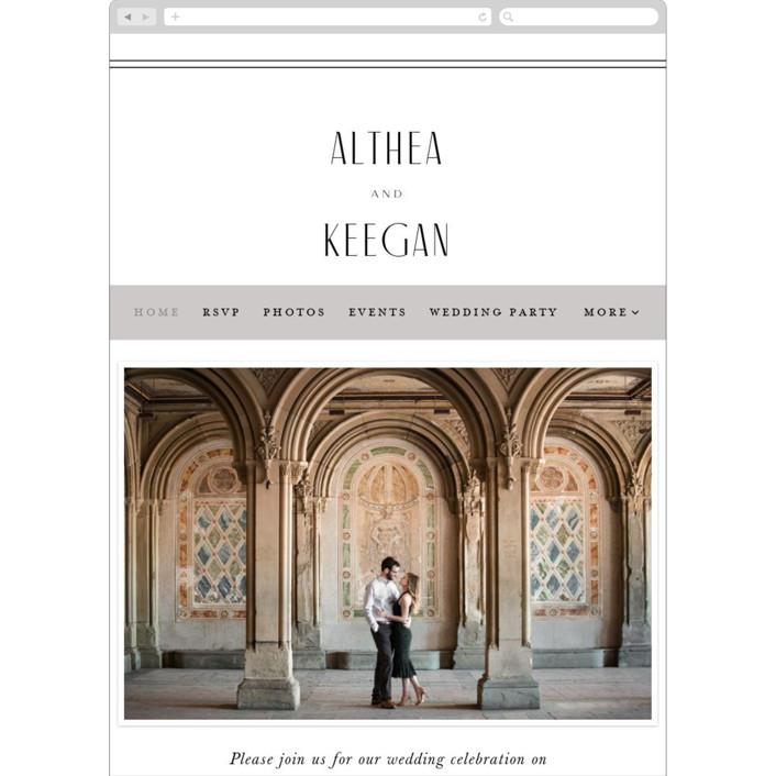"""""""Narrative"""" - Wedding Websites in Frost by Jennifer Wick."""