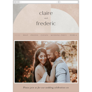 This is a brown wedding website by Kelly Schmidt called Arches printing on digital paper.
