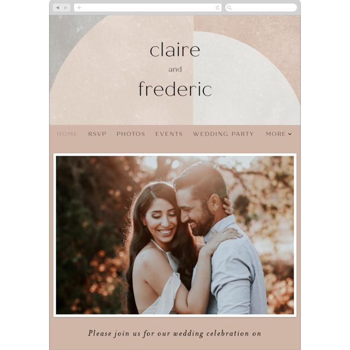 """Arches"" - Modern Wedding Websites in Copper by Kelly Schmidt."