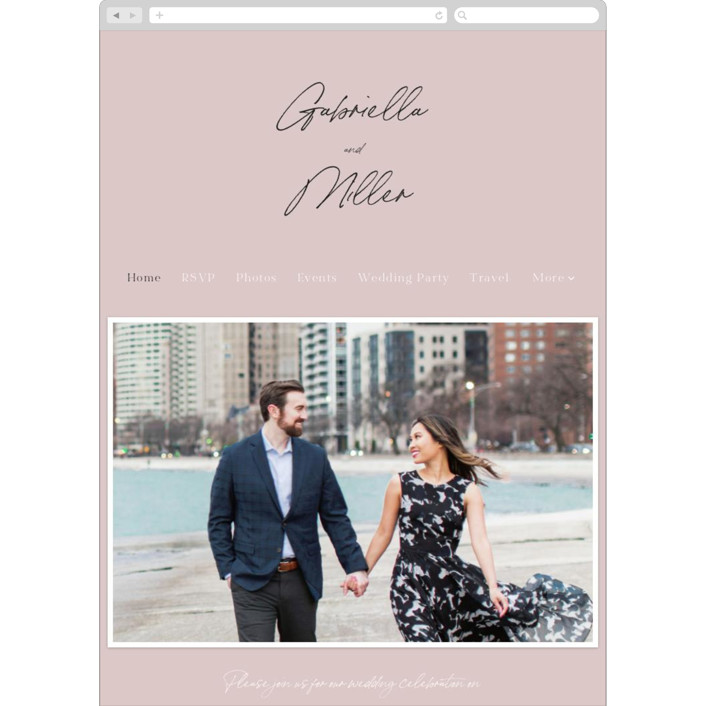 """""""Marry You"""" - Wedding Websites in Blush by Design Lotus."""