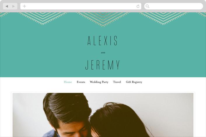 """Overlap"" - Wedding Websites in Emerald by Rebecca Bowen."