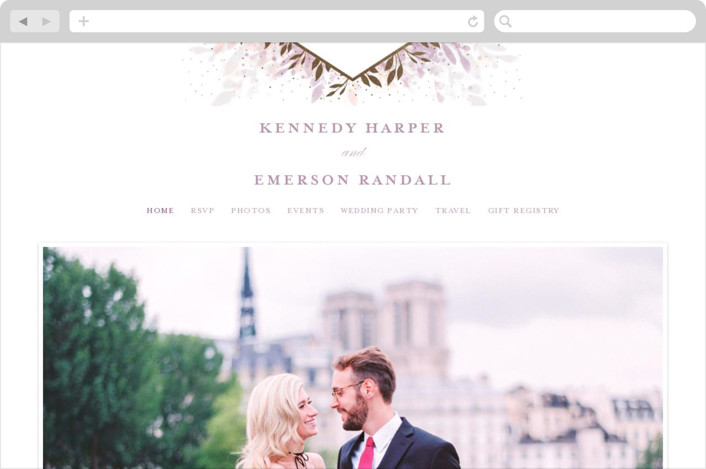 """botanical bokeh"" - Wedding Websites in Lilac by Angela Marzuki."