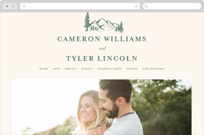 """""""Blue Ridge"""" - Wedding Websites in Pine by Amy Kross."""