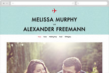 Come Fly with Us Wedding Websites