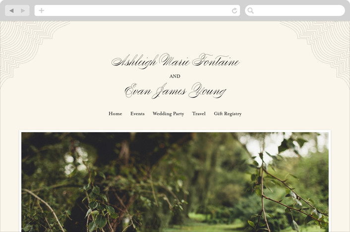 """Splendorous"" - Wedding Websites in Cream by Design Lotus."