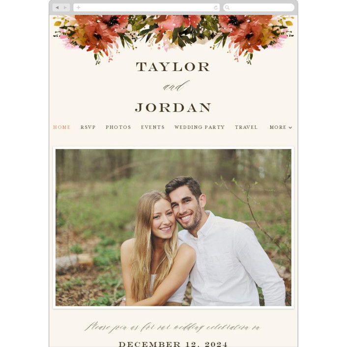 """Eden"" - Wedding Websites in Poinsettia by Lori Wemple."