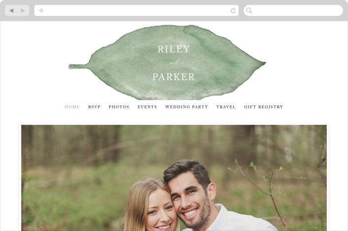 """""""Painted Leaf"""" - Wedding Websites in Leaf by Katharine Watson."""