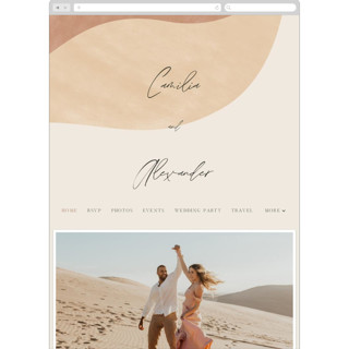This is a brown wedding website by Pixel and Hank called Surface printing on digital paper in standard.