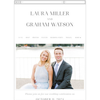 This is a white wedding website by Alethia Frye called conjoin printing on digital paper in standard.