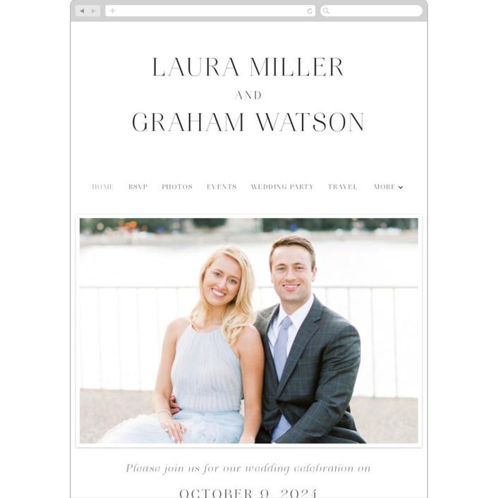 """conjoin"" - Wedding Websites in Pearl by Alethia Frye."