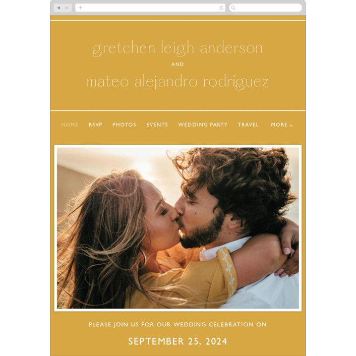 """goldfinch"" - Wedding Websites in Sunshine by Lindsay Stetson Thompson."