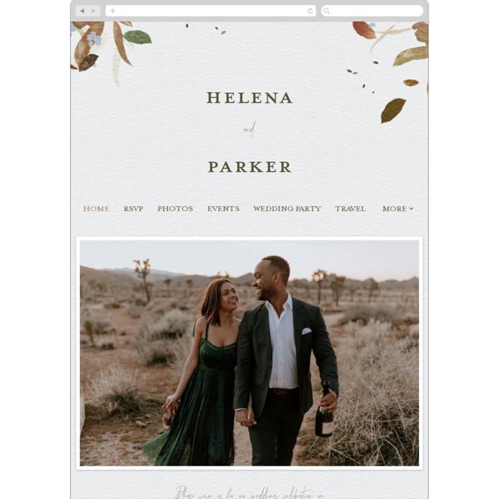 """""""Fall Flurry"""" - Bohemian Wedding Websites in Fall by Grace Kreinbrink."""