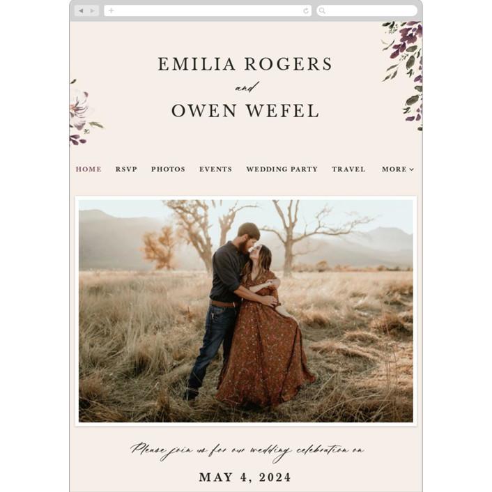"""""""iliya"""" - Wedding Websites in Bordeaux by Itsy Belle Studio."""