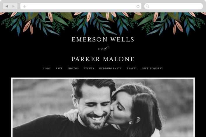 """""""Verdure"""" - Wedding Websites in Rich Coal by Lehan Veenker."""