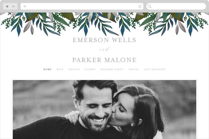 This is a green wedding website by Lehan Veenker called Verdure printing on digital paper.