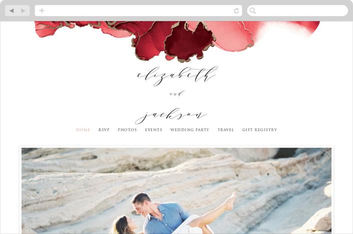 This is a gold wedding website by Erin Deegan called Modern Tide Pools printing on digital paper.