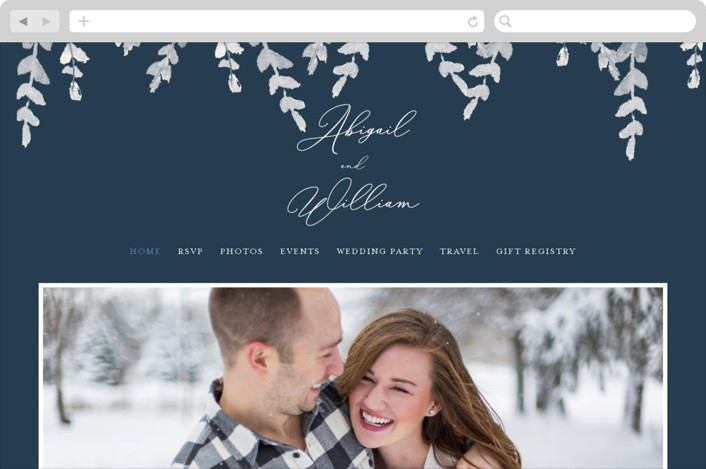 """""""Sprigs of Romance"""" - Wedding Websites in Royal by Papernoten."""