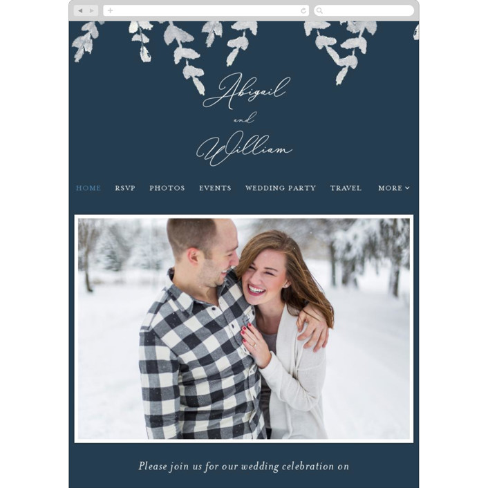 """Sprigs of Romance"" - Wedding Websites in Royal by Papernoten."