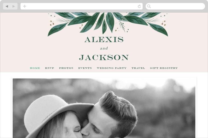 This is a beige wedding website by Leah Bisch called Eternity printing on digital paper.