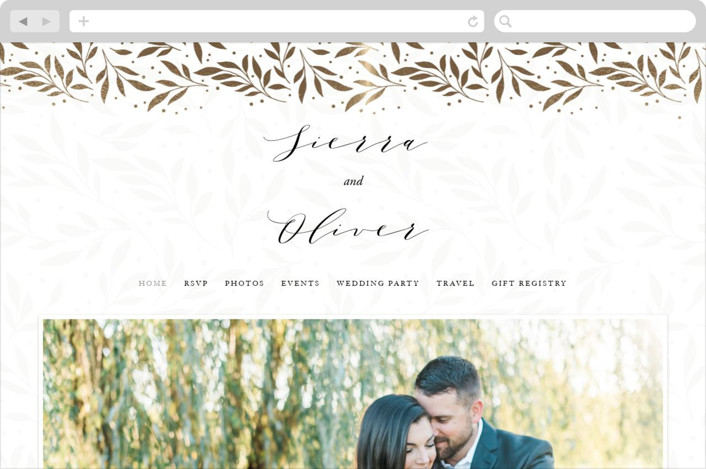 """Classic Elegance"" - Wedding Websites in Smoke by Lorent and Leif."