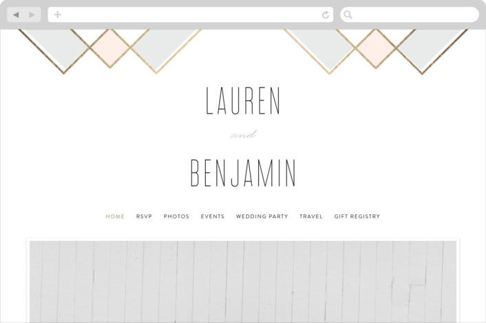 """Soft Glass"" - Wedding Websites in Blush by Erica Krystek."