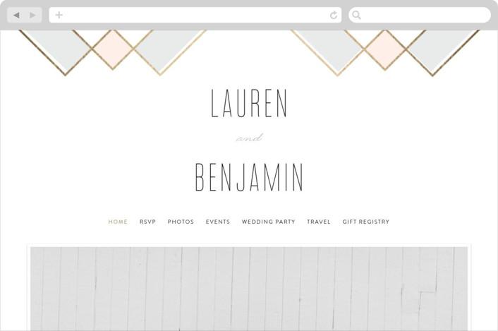"""Soft Glass"" - Wedding Websites in Blush by Erica Krystek."