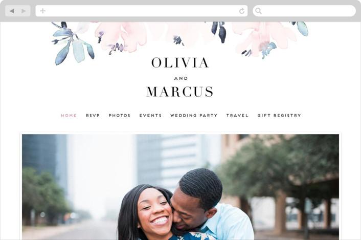 """Florista Modernista"" - Wedding Websites in Azalea by Petra Kern."