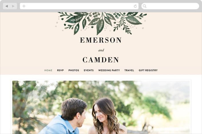 This is a green wedding website by Alethea and Ruth called Greenery Bouquet printing on digital paper.
