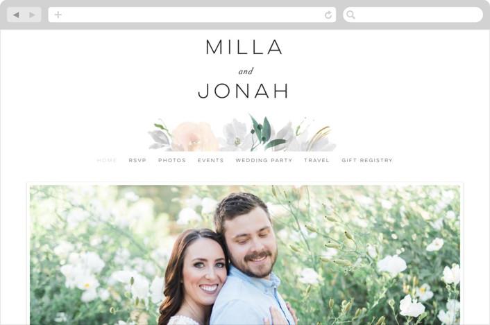 """""""Grande Botanique"""" - Wedding Websites in Mist by Bonjour Paper."""
