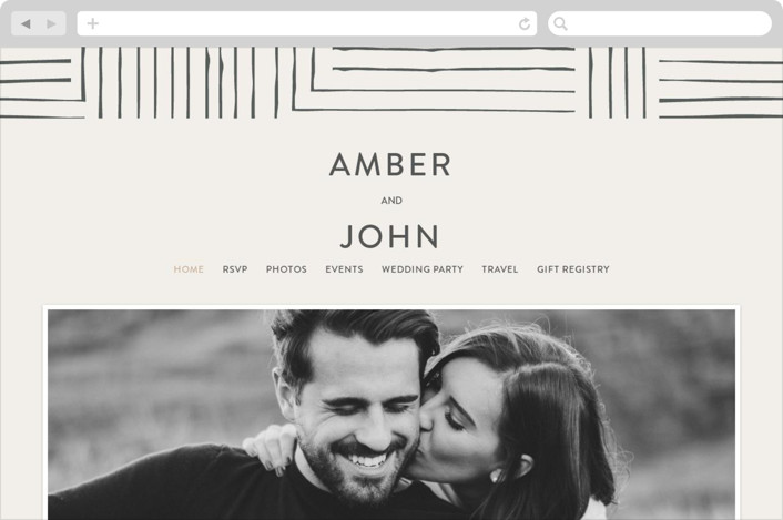 """Pattern Play"" - Wedding Websites in Pebble by Seven Swans."