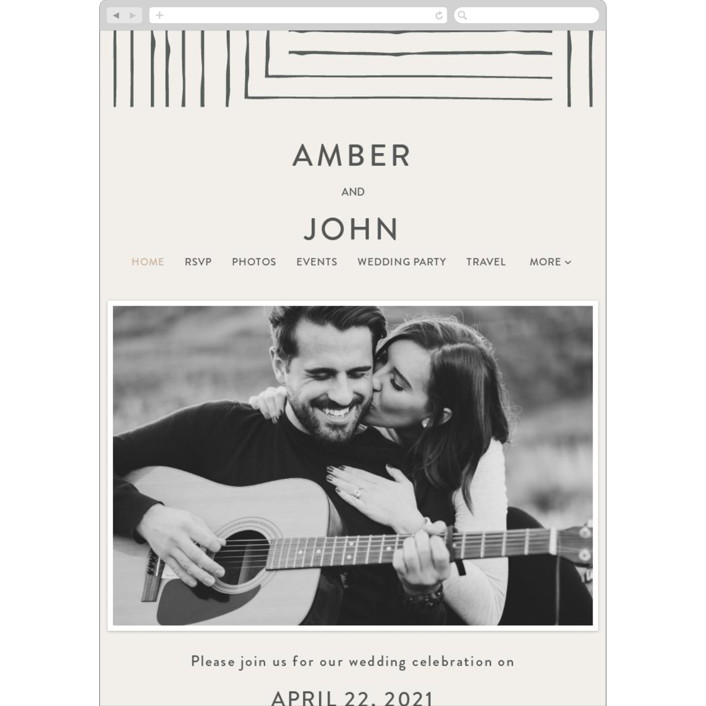 """""""Pattern Play"""" - Wedding Websites in Pebble by Anelle Mostert."""