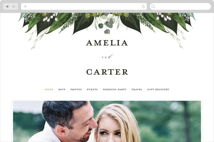 """""""Natures Greens"""" - Wedding Websites in Ivory by Susan Moyal."""