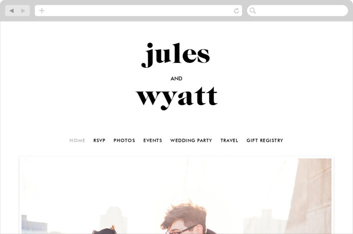 This is a white wedding website by annie clark called Nolita printing on digital paper.