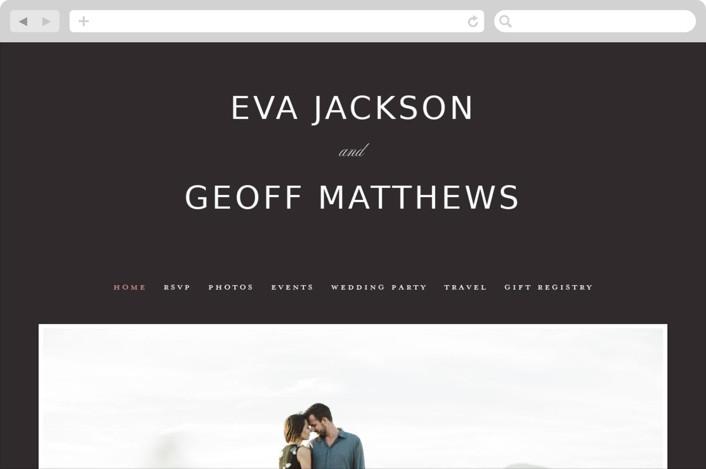 """Botanic"" - Wedding Websites in Midnight by kelli hall."