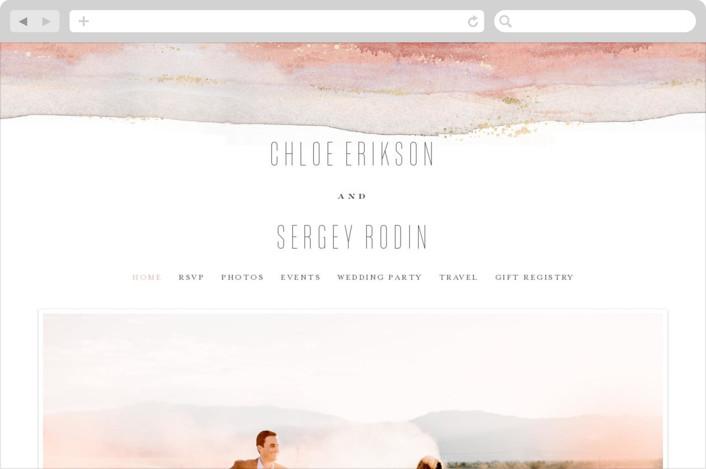 """""""Painted Desert"""" - Wedding Websites in Sandstone by Hooray Creative."""
