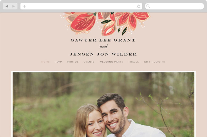"""Sawyer"" - Wedding Websites in Cloisonne by Melanie Kosuge."