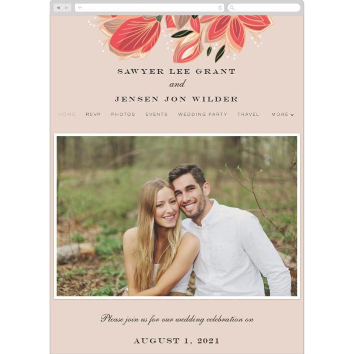 """""""Sawyer"""" - Wedding Websites in Cloisonne by Melanie Kosuge."""