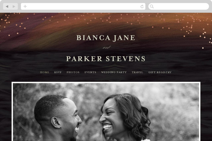 This is a orange wedding website by chocomocacino called borealis printing on digital paper.
