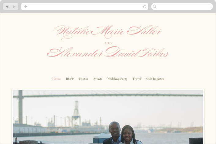 """Winter Flourish"" - Wedding Websites in Petal Pink by annie clark."