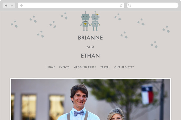 """Infinity & Beyond"" - Whimsical & Funny, Modern Wedding Websites in Slate by Dawn Jasper."