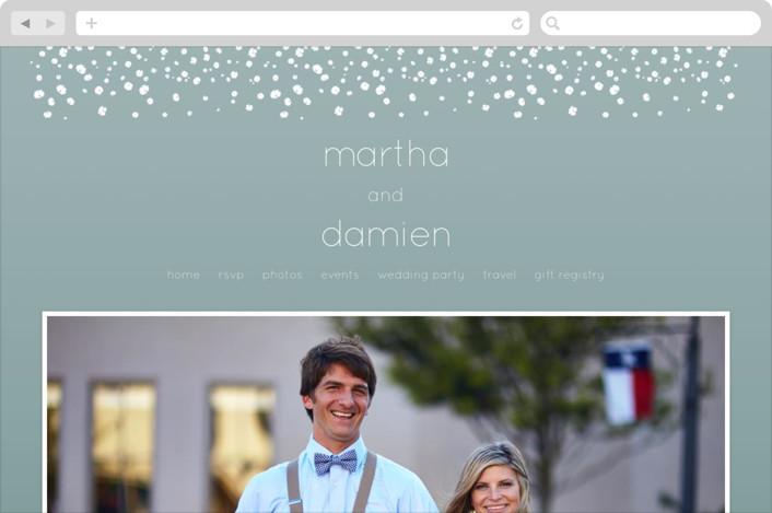 """blissful rain"" - Elegant, Modern Wedding Websites in Teal by Aspacia Kusulas."