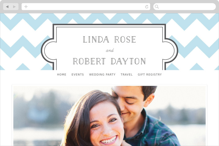 """Modern Belle"" - Whimsical & Funny, Modern Wedding Websites in Baby Blue by 2birdstone."