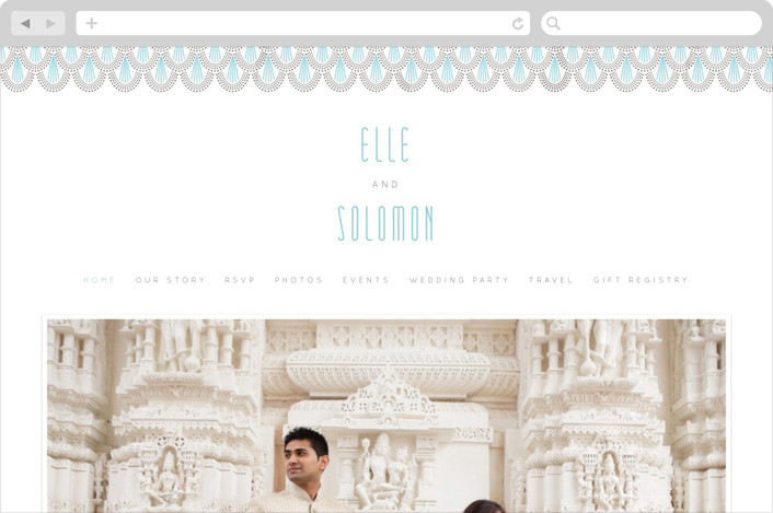 """Serene Jazz Age"" - Vintage Wedding Websites in Pool by Holly Whitcomb."