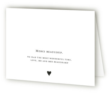 Amour Anniversary Party Thank You Cards