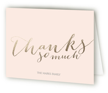 Love Never Fails Anniversary Party Thank You Cards