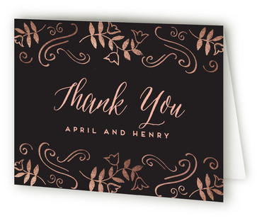 The Golden Years Anniversary Party Thank You Cards