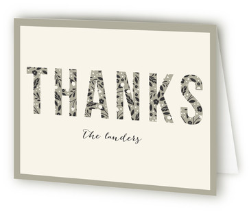 Vintage years Anniversary Party Thank You Cards