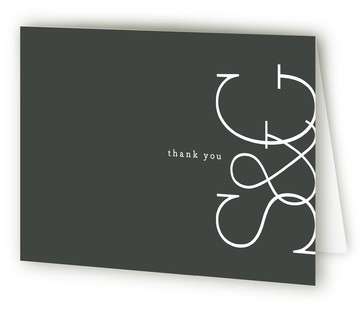 Sleek Chic Anniversary Party Thank You Cards