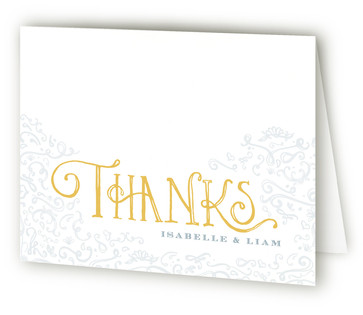 Once Upon Anniversary Party Thank You Cards